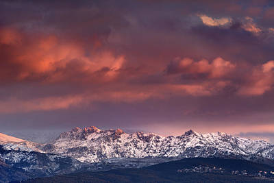Alayos Mountains At Sunset Sierra Nevada Art Print by Guido Montanes Castillo
