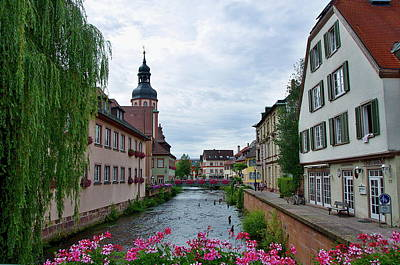 Alb River In Ettlingen Germany Art Print
