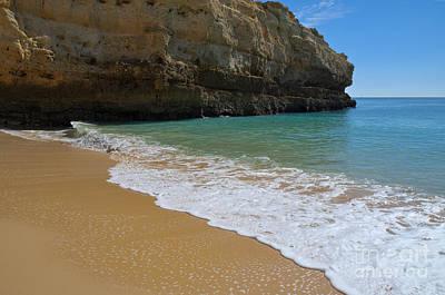 Albandeira Beach Waves Art Print