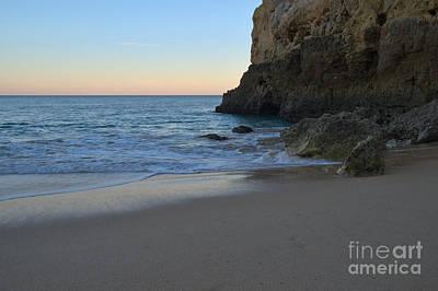 Albandeira Beach Welcoming Twilight Art Print by Angelo DeVal