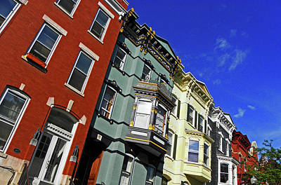 Photograph - Albany Brownstones by Elizabeth Hoskinson