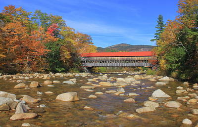 Photograph - Albany Covered Bridge And Swift River White Mountains by John Burk