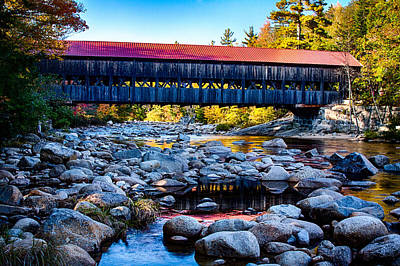 Photograph - Albany Covered Bridge Reflection by Jeff Folger