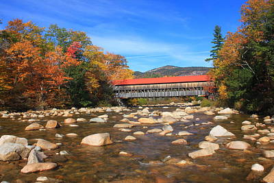 Photograph - Albany Covered Bridge Swift River by John Burk