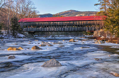 Photograph - Albany Covered Bridge-white Mountains Of New Hampshire by Expressive Landscapes Fine Art Photography by Thom