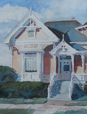 Victorian Houses Painting - Albany Painted Lady by Jenny Armitage