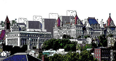 Photograph - Albany Skyline by Mark Alesse