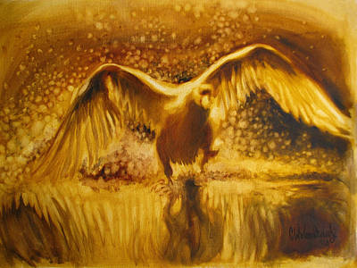 Refection Painting - Albatross Taking Off by Christo Wolmarans