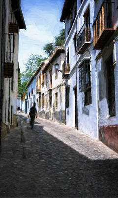 Granada Photograph - Albayzin Street Granada II by Joan Carroll