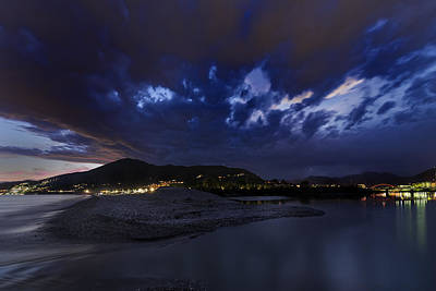 Photograph - Albenga Alassio Coast Sunset With Clouds... by Enrico Pelos