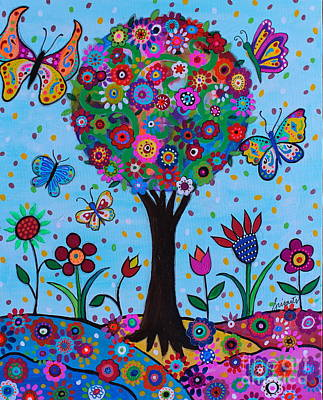 Painting - Albero Della Vita by Pristine Cartera Turkus