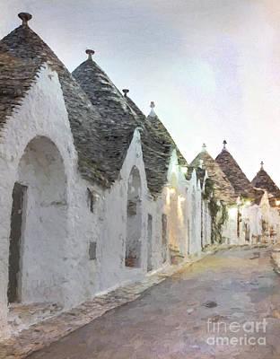 Angels And Cherubs - Alberobello trulli by Julie Woodhouse