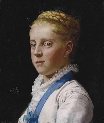 Rowing - Albert Anker , Portrait of Frieda Moser, 1875 by Albert Anker