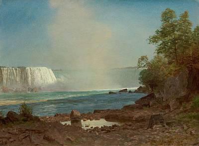 Anchor Down - Albert Bierstadt 1830-1902 Niagara Falls by Albert Bierstadt