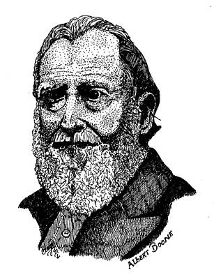 Pen Drawing - Albert Boone by Clayton Cannaday