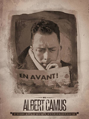 Author Painting - Albert Camus 01 by Afterdarkness