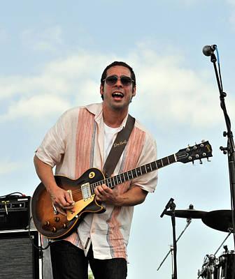 Photograph - Albert Castiglia Plays His Standard Les Paul Gibson Guitar by Ginger Wakem