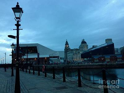 Photograph - Albert Dock At Dusk by Joan-Violet Stretch
