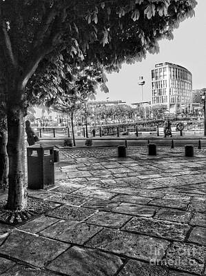 Photograph - Albert Dock View In Greyscale 2 by Joan-Violet Stretch
