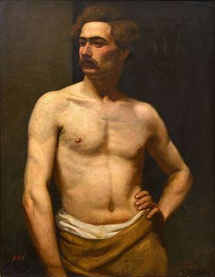 Art Print featuring the painting Albert Edelfelt Male Model by Artistic Panda