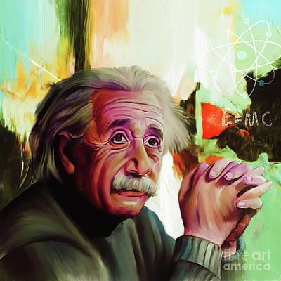 Albert Einstein 01 Art Print by Gull G