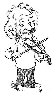 Violins Photograph - Albert Einstein (1879-1955) by Granger