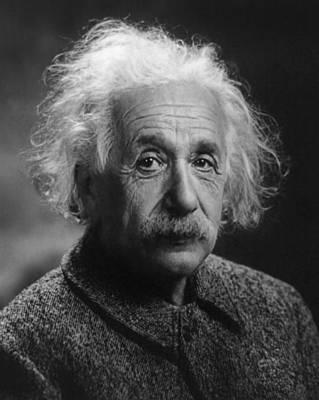 Emc2 Pyrography - Albert Einstein, 1947. Age 68. by Artistic Panda