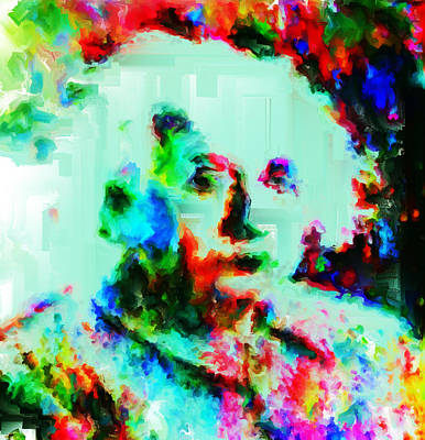 Theory Of Relativity Painting - Albert Einstein 1a by Brian Reaves