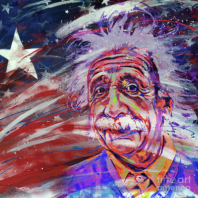 Albert Einstein 34gh Art Print by Gull G