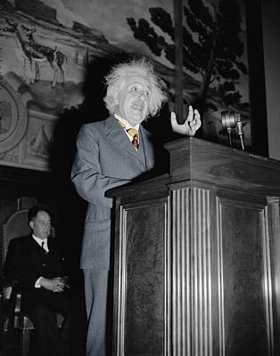 Photograph - Albert Einstein by Andrew Fare