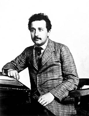 Einstein Photograph - Albert Einstein At The Swiss Patent by Everett