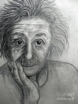 Einstein Drawing - Albert Einstein by Cheryl Rose