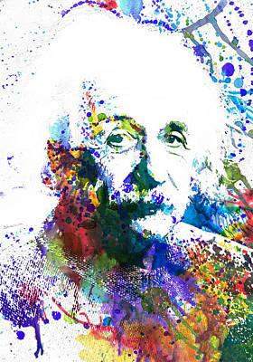 Emc2 Painting - Albert Einstein by Dante Blacksmith