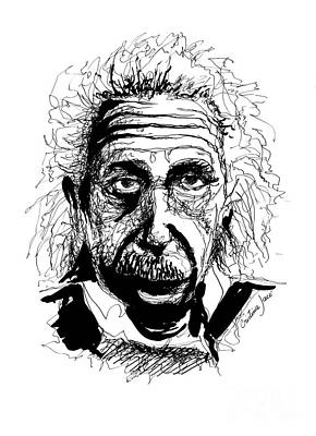Einstein Drawing - Albert Einstein Drawing by Cristina Jaco