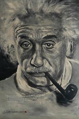 Albert Einstein Art Print by Eddie Lim