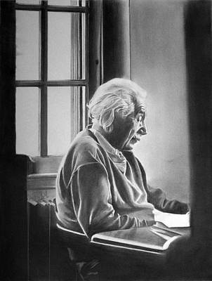 Einstein Drawing - Albert Einstein by Felipe Galindo