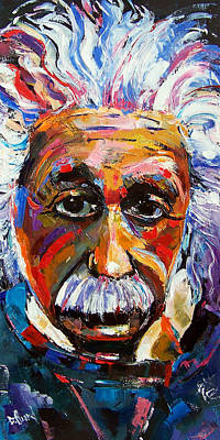 Einstein Painting - Albert Einstein Genius by Debra Hurd