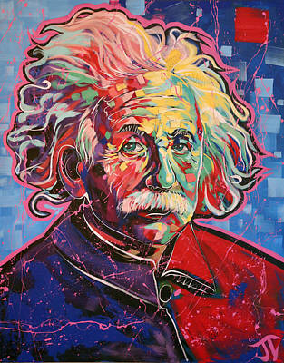 Painting - Albert Einstein by Jay V Art