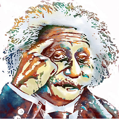 Digital Art - Albert Einstein by Marlene Watson