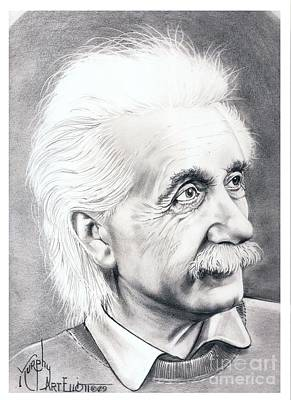 Albert Einstein  Art Print by Murphy Elliott
