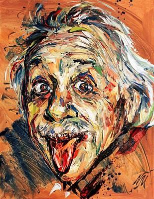 Albert Einstein Art Print by Natasha Mylius