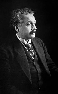 Emc2 Pyrography - Albert Einstein Photo 1921 by Artistic Panda