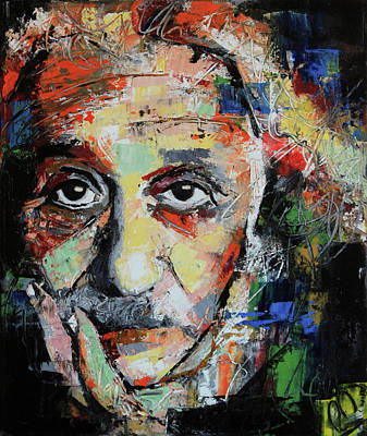 Abstract Portrait Painting - Albert Einstein by Richard Day