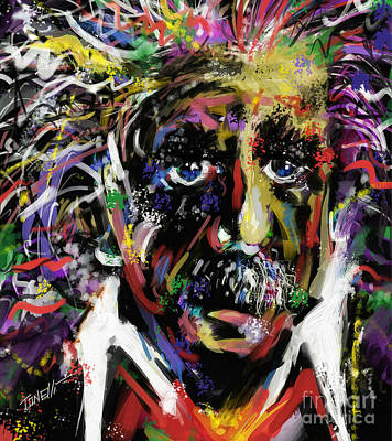 Famous People Mixed Media - Albert Einstein, Science by Mark Tonelli