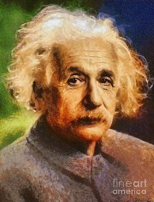 Wwi Painting - Albert Einstein, Scientist by Esoterica Art Agency