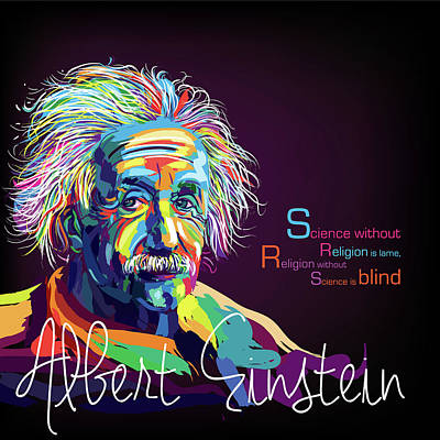 Digital Art - Albert Einstein by Sethu Madhavan