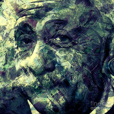 Smart Mixed Media - Albert Einstein by Stacey Chiew