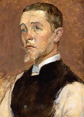 Painting - Albert Grenier by Henri de Toulouse-Lautrec