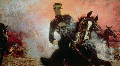Explosions Painting - Albert I King Of The Belgians In The First World War by Ilya Efimovich Repin