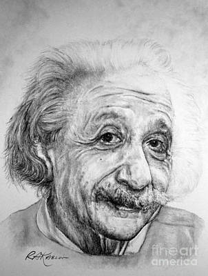 Einstein Drawing - Albert by Roy Anthony Kaelin
